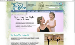 Dance School Website Designed to Inspire